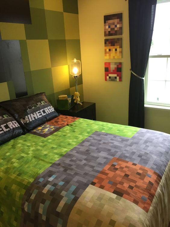 Bettw sche wandteppich and minecraft on pinterest - Minecraft schlafzimmer ...