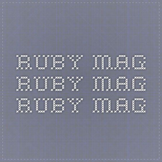 ruby mag ruby mag ruby mag// issue 67