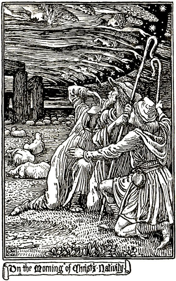 """On the Morning of Christ's Nativity"" by Walter Crane"