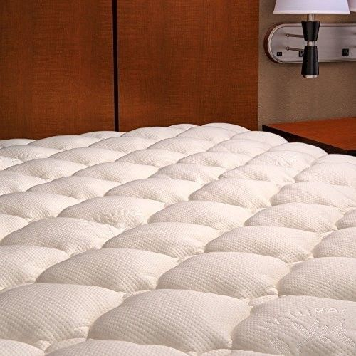California King Mattress Cover Pad Natural Bamboo Extra Plush Fitted Topper New