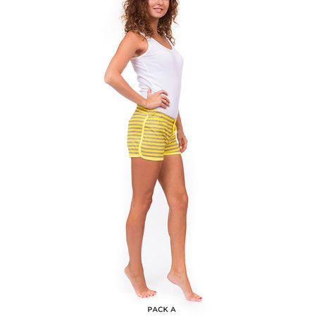 6 Pairs: Emme Jordan 100% Cotton Printed Lounge Shorts - Assorted Styles at 68% Savings off Retail!