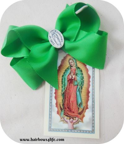 Our Lady of Guadalupe Bow--perfect for Advent and Christmas season . Order now!