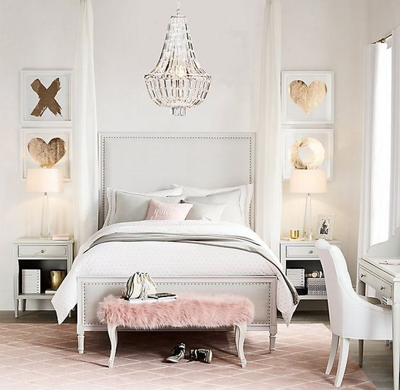 Bedroom Decor Glam - Blush Pink - Pastels - Cool Chic Style Fashion: