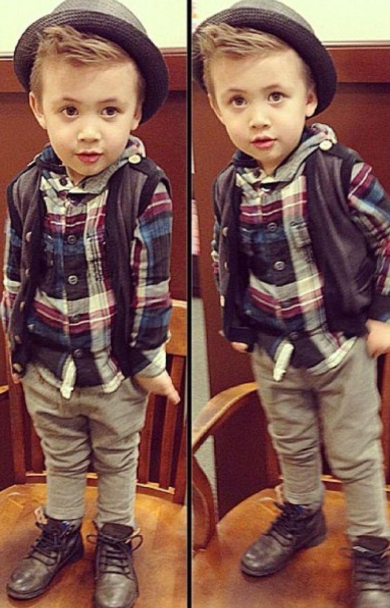 Toddler boy fashion ha!  thats hiw my boy dresses!