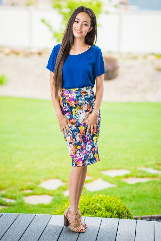 Erika Floral Skirt. From sexymodest.com