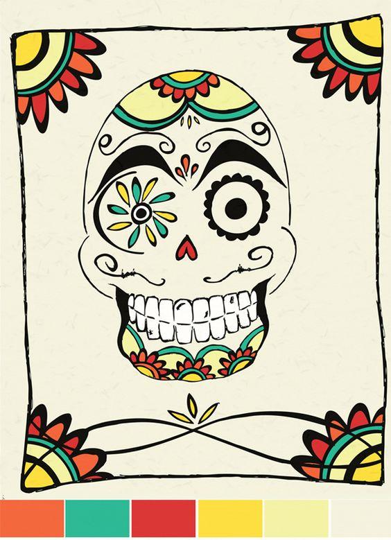 floral skull #skull