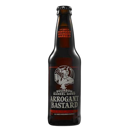 Bia Stone Bourbon Barrel Aged Arrogant Bastard 8.1% - Chai 355ml - Bia Mỹ Nhập Khẩu TPHCM