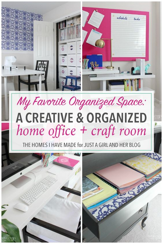 This incredibly organized home office + craft room is packed full of smart and inspirational ideas for organizing your own home! A must see!