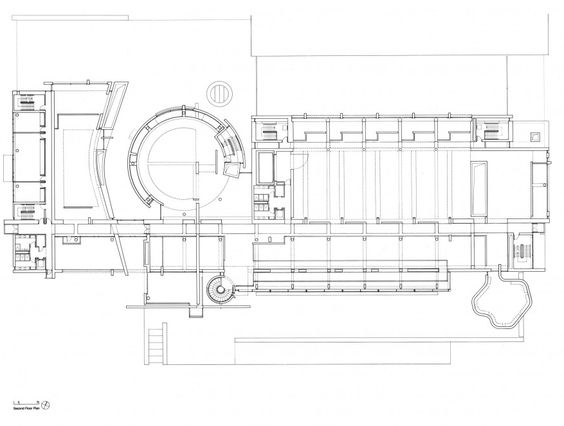 Second Floor Plan of BMCA by Richard Meier. | Richard ...