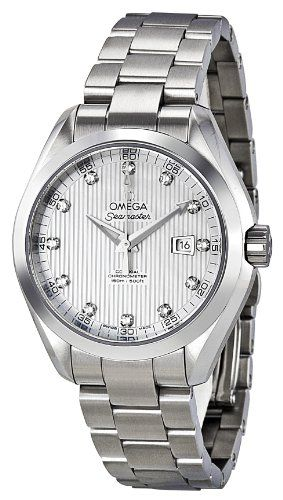 Omega Women's 231.10.34.20.55.001 Seamaster Aqua Terra Automatic White Mother-Of-Pearl Dial Watch | WatchCorridor
