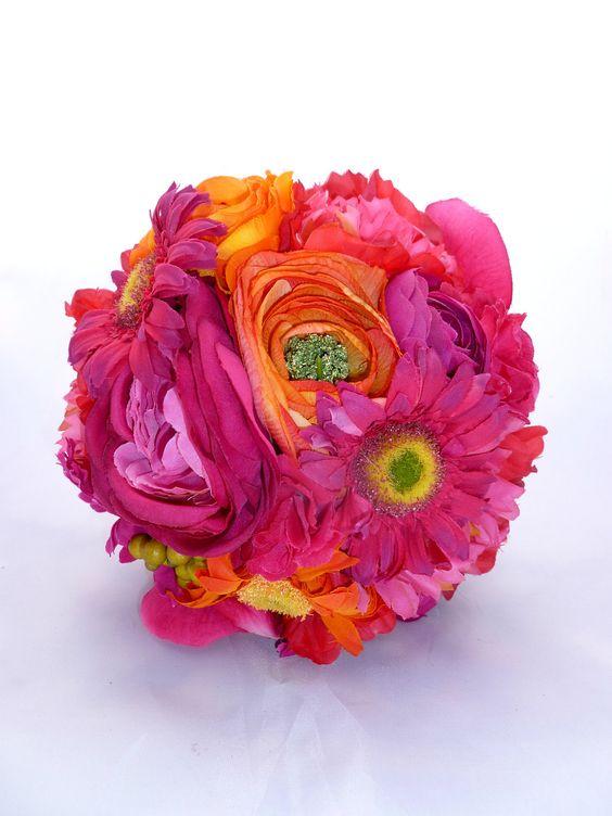 bright colourful pomanders for flower girls