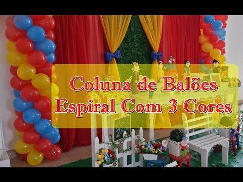 COLUNA DE BALÕES - COMO FAZER COLUNA DE BALÕES ESPIRAL - YouTube