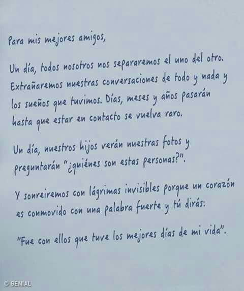 Frase Para Mis Amigos Cartas Amigas Amigas Frases Y Amigas