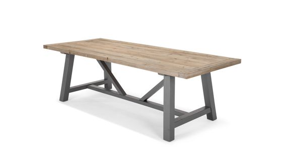 Iona Dining Table, Solid Wood and Grey | made.com