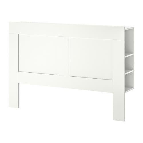 Brimnes Tete De Lit Avec Rangement Blanc 160 Cm Ikea Headboard Storage Brimnes Headboard Brimnes
