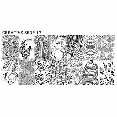 Creative Shop- Stamping Plate- 17