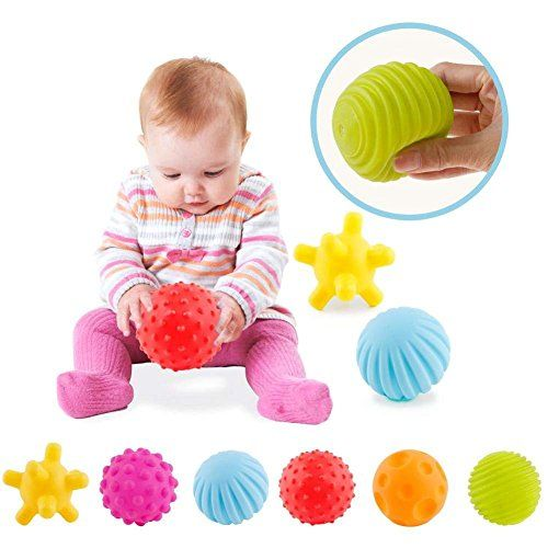ROHSCE 6pcs Baby Textured Multi Sensory Ball Set