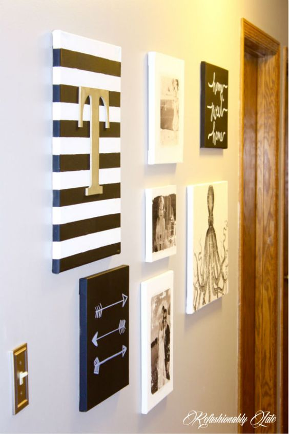 Initials Button Letters And Canvas Walls On Pinterest
