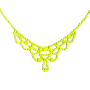 Collar de cristales amarillo neon - Neon necklace - Makedoonia