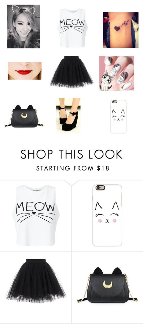"""#240"" by biamorelli ❤ liked on Polyvore featuring Miss Selfridge, Casetify and Usagi"