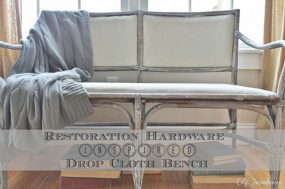 RH drop cloth bench knock off