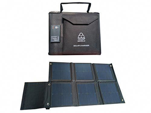 Megasolar 60w Solar Charger Solar Panel With Solar Charge Controller Dual Qc3 0 Usb 5v 12v And Dc 12 Solar Charger Solar Charger Portable Solar Energy Panels