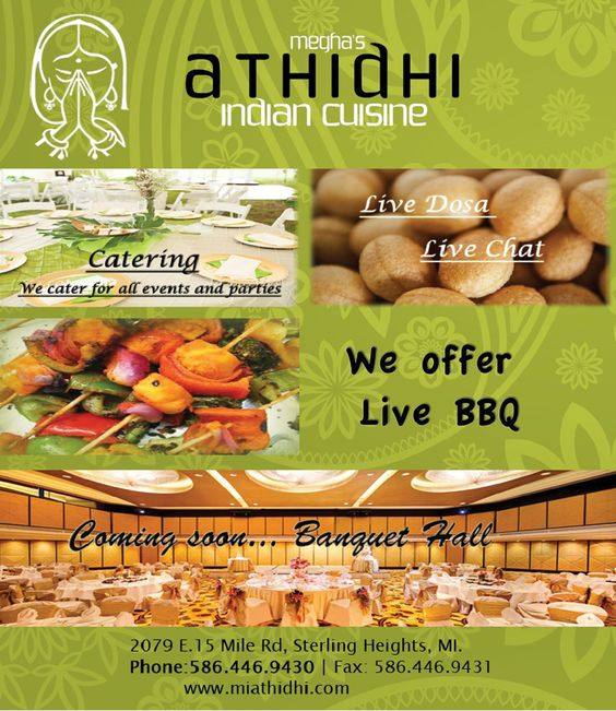 Indian cuisine cuisine and indian on pinterest for Athidhi indian cuisine sterling heights