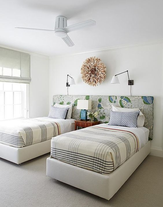 Cute headboard idea for shared room.  Friday Inspiration: Our Top Pinned Images — STUDIO MCGEE