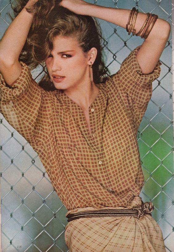 Gia Carangi by Chris Von Wangenheim for Vogue, January 1979. Love the earthy tones