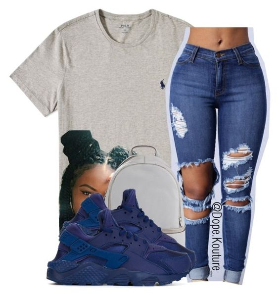 """""""Blue cutie """" by dopekouture ❤ liked on Polyvore featuring MICHAEL Michael Kors and NIKE"""