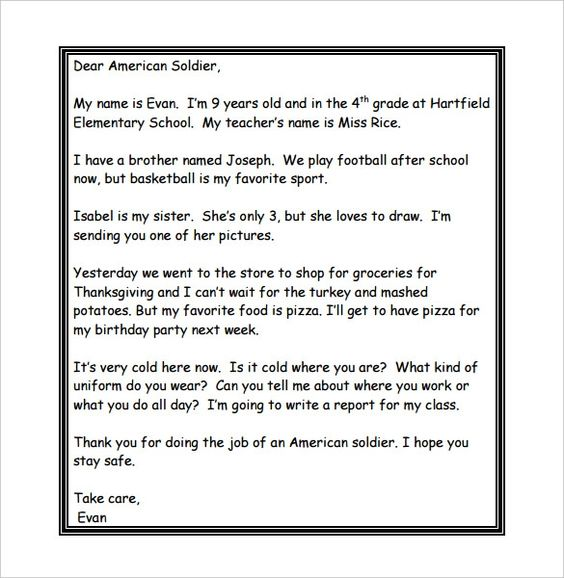 Thank You Letters To Veterans Examples Letters To Veterans Thank You Letter Template Letter Templates