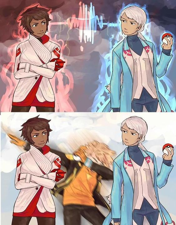 Spark dab-bombing << Team Mystic!!!!! << YOU MEAN OUR DABBING LEADER OF INSTINCT