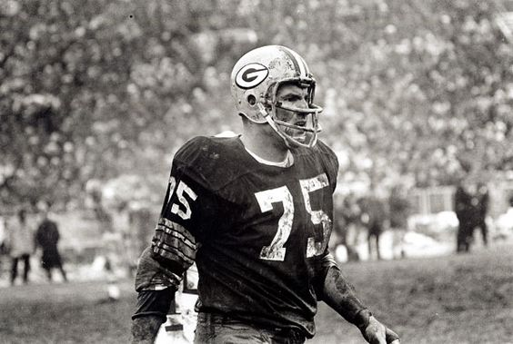 "Forrest Gregg was the Green Bay Packers' No. 2 draft pick in 1956. He earned an ""iron-man"" tag by playing in a then league record 188 consecutive games from 1956 until 1971, his final season which he spent with the Super Bowl-bound Dallas Cowboys. As the Packers grew in stature in the 1960s, so too did Gregg. He won All-NFL acclaim eight straight years from 1960 through 1967 and was selected to play in nine Pro Bowls. (Photo by Vernon Biever/NFL)"