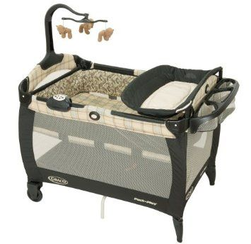 Amazon.com: Graco Swept Frame Pack 'N Play Portable Playard with Bassinet and Changing Table in Graham: Baby