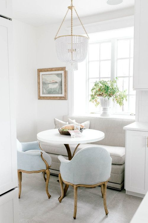 10 Adorable Dining Nooks Small White Dining Table Dining Room