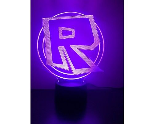 Roblox Night Light Color Changing 3d Illusion Led Lamp For Home
