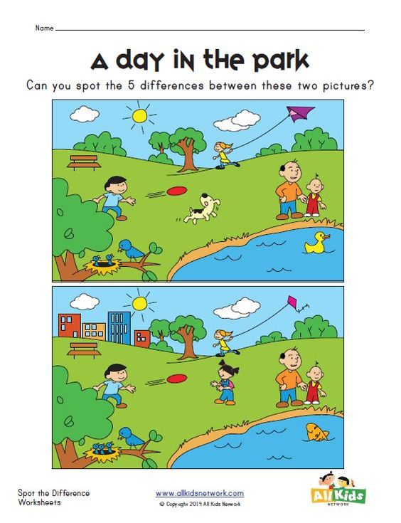 Number Names Worksheets : spot the difference worksheets for ...