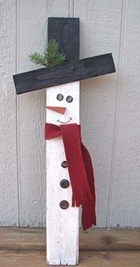All you need are a few supplies and Glue Dots Advanced Strength adhesive to make this adorable wooden snowman for home.