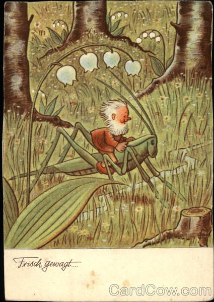 Zeichnung von Friedrich Karl Baumgarten, deutscher Kinder-/Bilderbuchillustrator, Lithograf und Zeichner (* 18. August 1883 in Reudnitz; † 3. November 1966 in Leipzig)