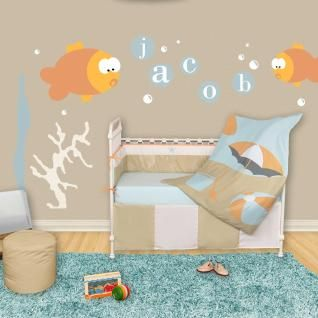 Every day will be a beach day with the Sun and Sand collection.  Get those pails and shovels ready, your baby will want to dig right into the sand.  With a combination of calm and serene colors, this set is sure to keep your baby floating on an island of tranquility.