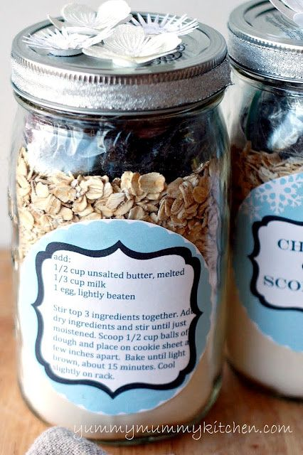Yummy Mummy Kitchen: Cherry Oat Scone Mix {Homemade Gift with Printable Labels}