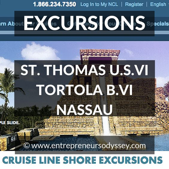 If you're planning your next Norwegian Cruise and are looking to take part in some cruise ship shore excursions for St. Thomas, Tortola or Nassau then the information in this post might be useful.  We have