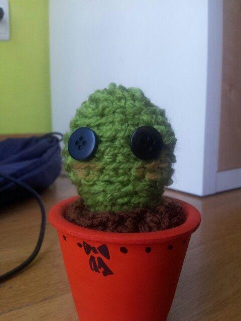Cactus ganchillo kawaii