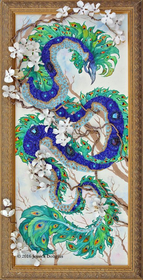 Peacock Dragon by JessicaMDouglas on DeviantArt