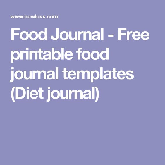 Food Journal - Free printable food journal templates (Diet journal - food journal templates