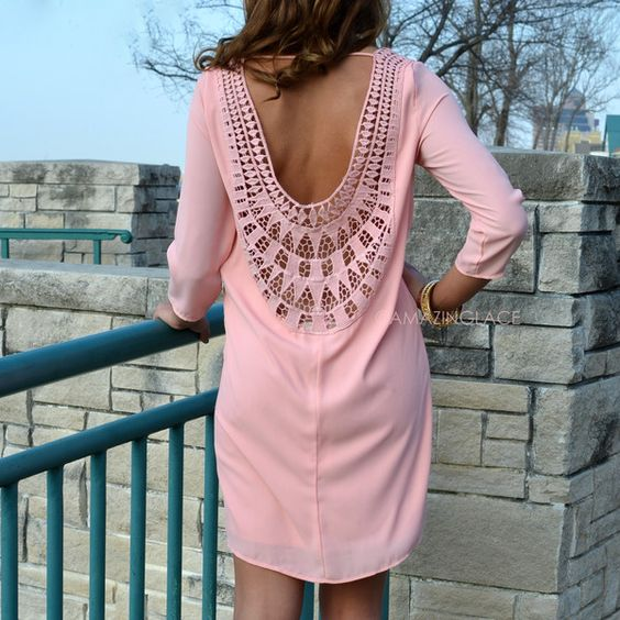 Surri Sunbeam Rose Embroidered Back Dress