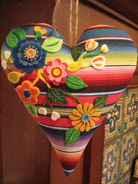 My Mexican Valentine from Serape print fabric by LaurieMade