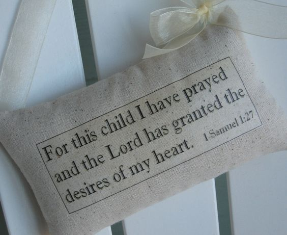 For This Child I Have Prayed Nursery Baptism Gift by AbundantHaven, $16.95