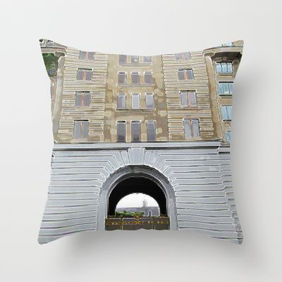 Montreal 8353 Throw Pillow by Korok Studios - $20.00