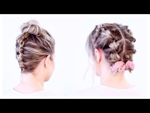 Super Cute Updos For Short Hair Milabu Youtube Short Hair Styles Short Hair Updo Short Hair Tutorial